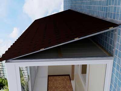 Крыша на балкон, Крыша на балкон