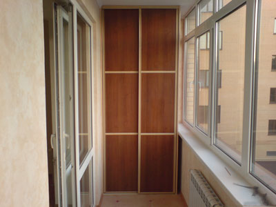 шкаф купе на балкон, Шкаф купе на балкон