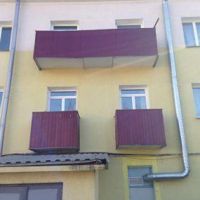 Внешняя отделка балкона, Внешняя отделка балкона