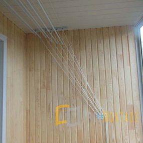Обшивка балкона деревянной вагонкой, Обшивка балкона деревянной вагонкой