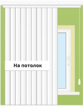 монтаж жалюзи на потолок